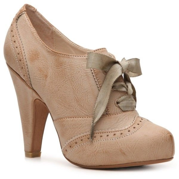 OMG I am so love n this style of shoe!!! Not Rated Jute Oxford Pump ($43) found on Polyvore