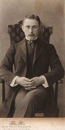 Adolf Loos; Foto von Otto Mayer, um 1904