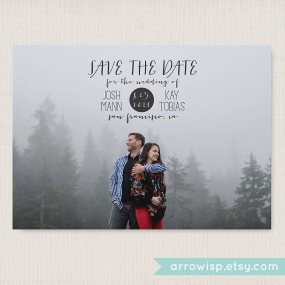 Minimalist: save the date. Modern and clean wedding announcement, available as a postcard. Completely customizable and printable. #03