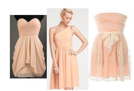 light peach bridesmaid dresses!!   My Future Wedding   Pinterest ...