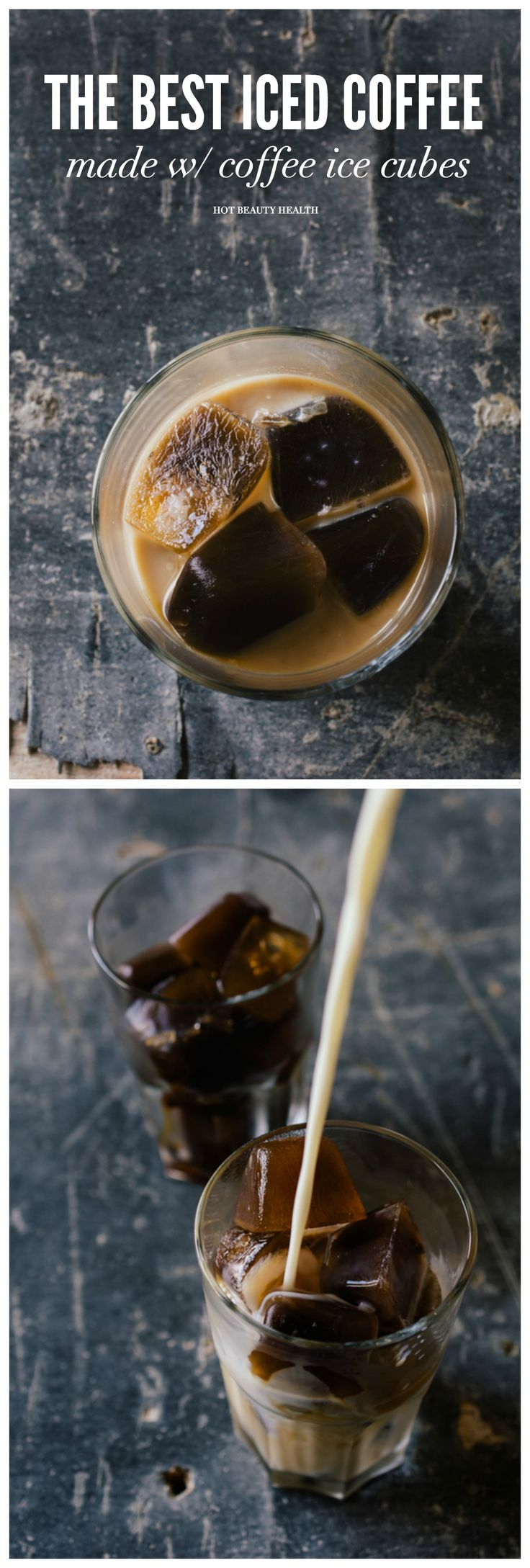 The best iced coffee recipe made with coffee ice cubes. It's the easiest way to make your favorite iced coffee drink at home.