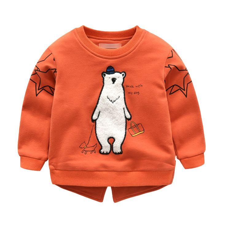 Baby Girls Sweatshirt Kids Long Sleeve Tops 100% Cotton 2017 Brand Winter Clothes boys T shirts Hoodies Children Clothing 18m-4T //Price: $29.36 //     #kids
