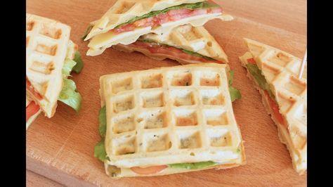 WAFFLE SALATI - ricetta semplice e veloce - waffle easy recipe - YouTube
