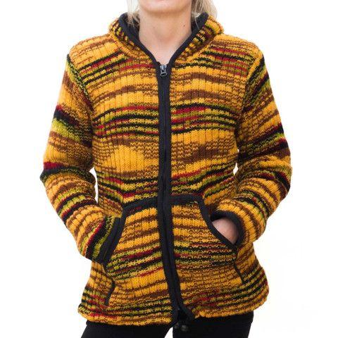 Yellow Wool Womens Jacket