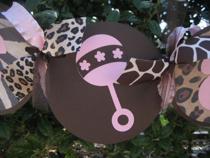 Image Detail For  GIRL Baby Shower Banner   Baby Shower Decorations    Animal Print .