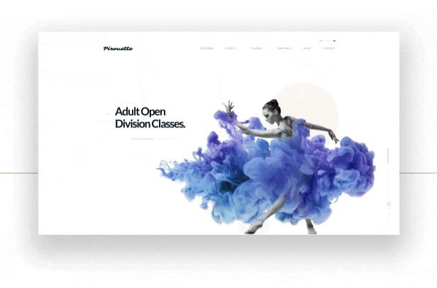 Pirouette is a Premium WordPress Theme for Dance Studios, Dancing Academies and other dance related businesses.