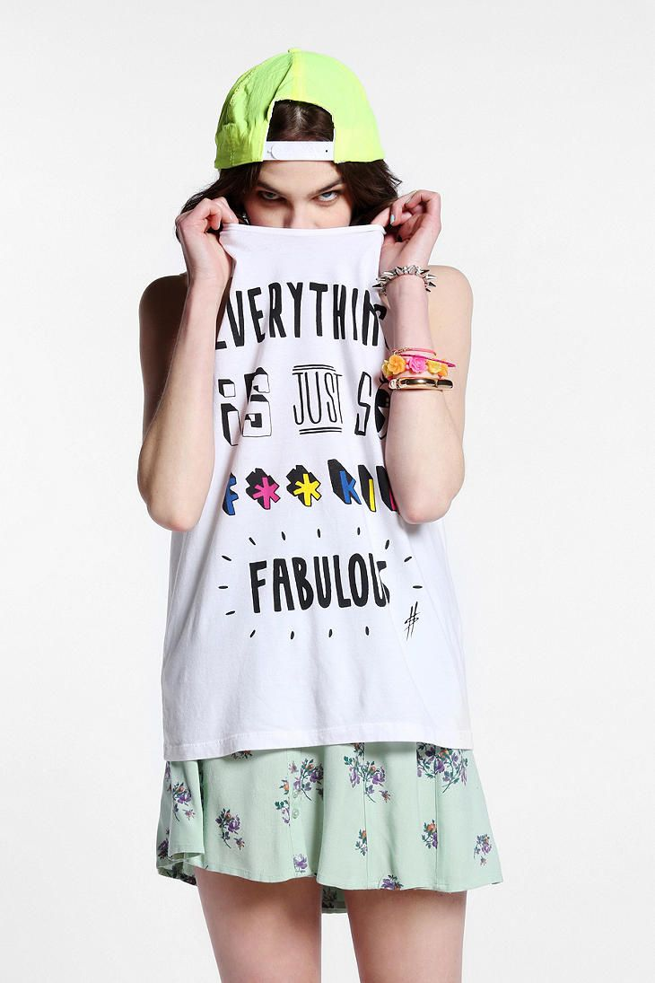Hattie Stewart x UO Everything Is Fabulous Tee Online Only