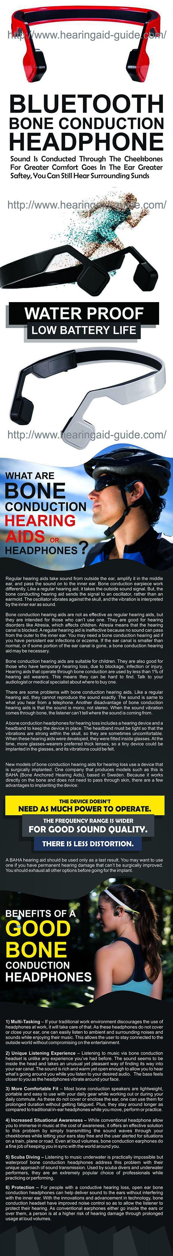 Best Bone Conduction Headphones Ever.....:) XOXO Best for those who can't wear Hearing aids due to their ear problems & it also future of headphones because it also used by others like for listening music which gives extremely joy to listen a soft or rocking song & for other activities too...