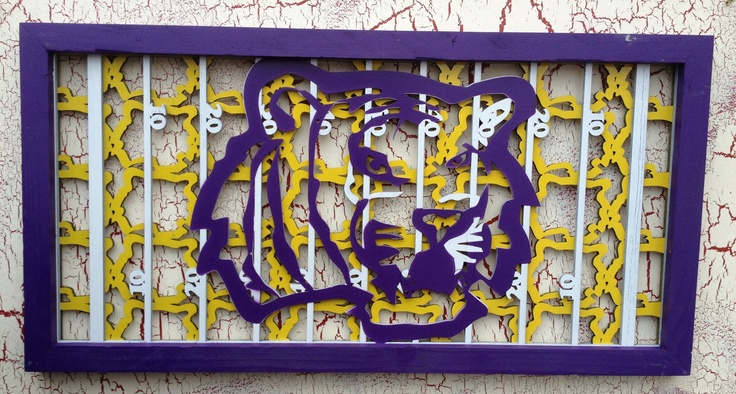 "LSU Tiger football field Wall Art $ 79.99 24""x12"""