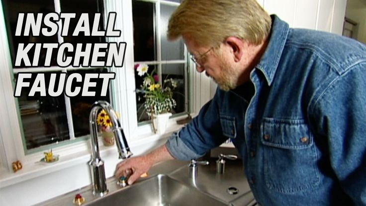 Learn how to replace a kitchen faucet and install shut-off ...