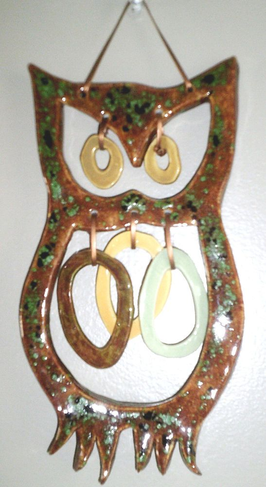 Vintage Ceramic Owl Wall Hanging Chimes **SOLD**