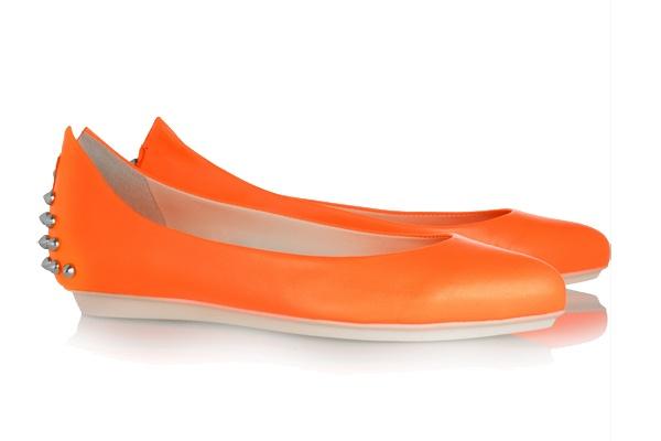 MCQ Orange + Stud flats