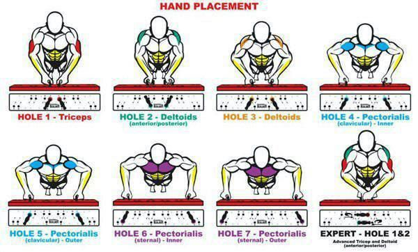 Push-ups - never really knew the various hand placements and target muscles.
