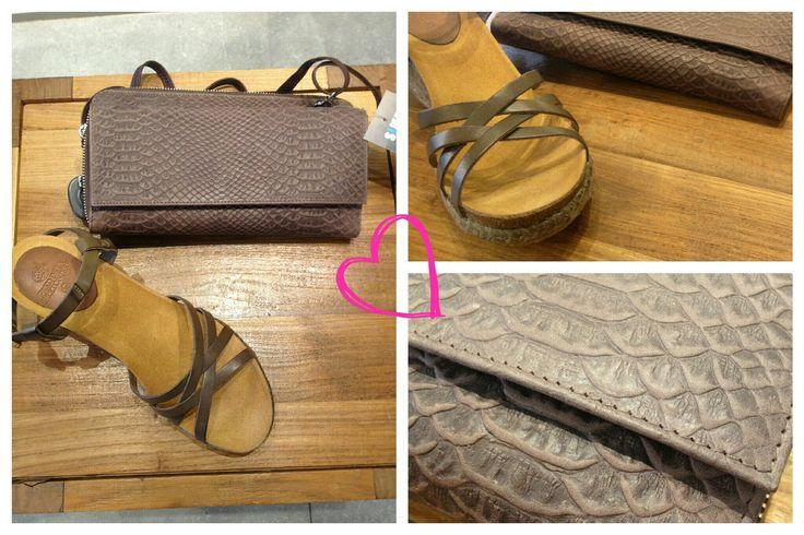 Leuke sleehakken voor de zomer met leuke bijpassende accessoires! #wedge #sleehak #taupe #brown #summer #beach #bag #clutch #simpl #schagen