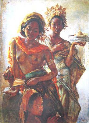 Willem Gerard Hofker - Gadis-gadis Bali dalam pesta pura