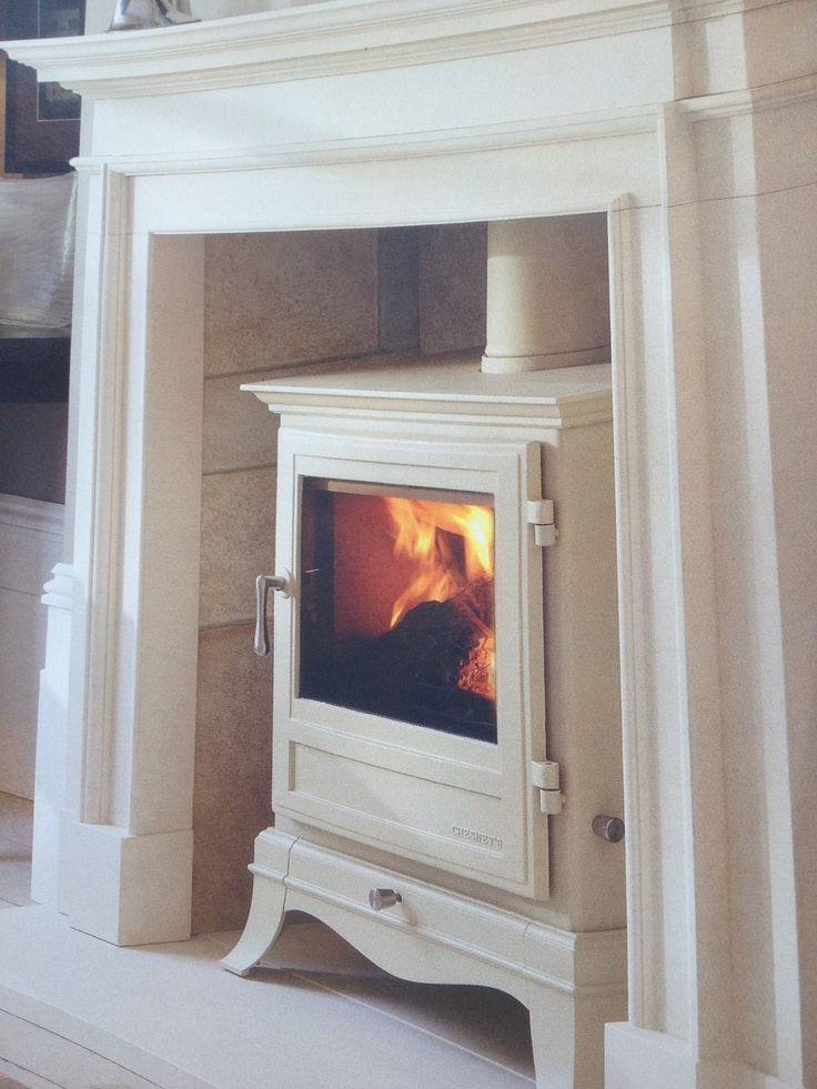 Cream wood burner - my mum has a black one of these and never uses it :-( I may have to steal it from her hehehe
