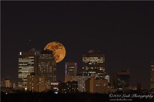 Moon over Winnipeg