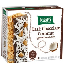 KASHI - great snacks, loaded with just the right amount of protein and fiber to get you through that 2pm hunger crunch!...and they taste amazing!