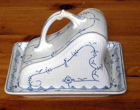 A Boch Freres La Louviere Cheese Cover and Stand by WestArtArchade, $75.00