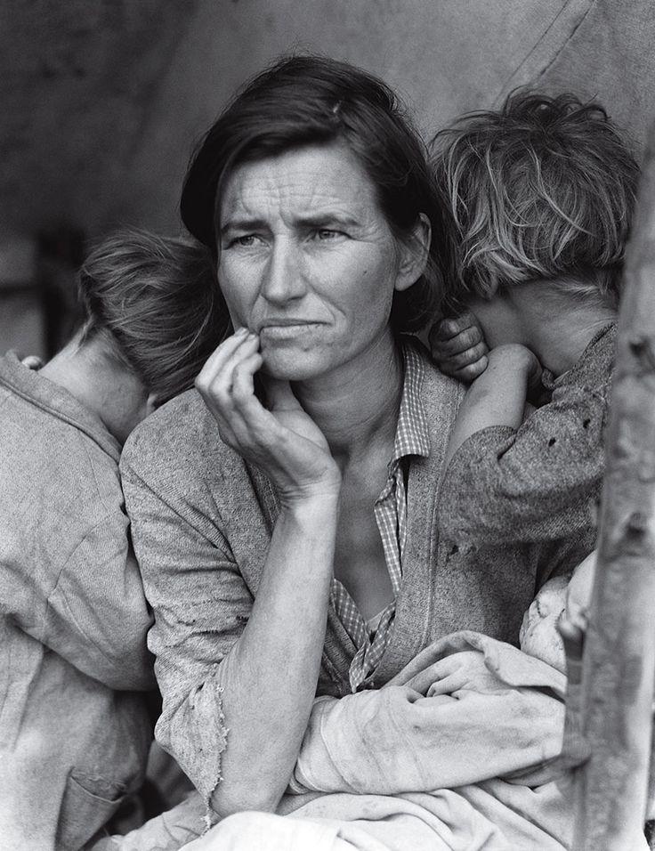 移民母親多蘿西·蘭格