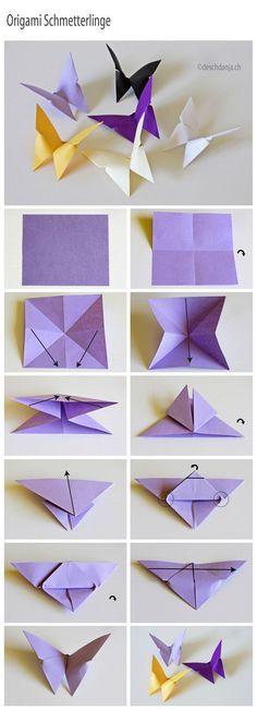 Bricoler des papillons de papier! Faites-en des décorations!