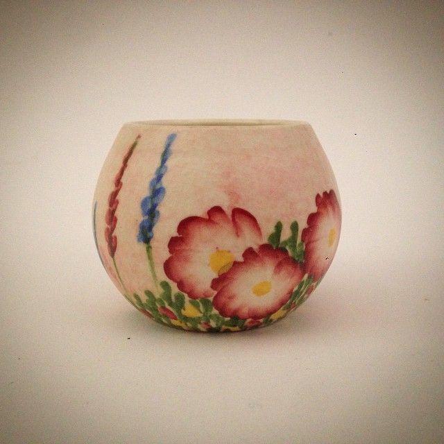 #vintage #radford #handcraft #ware #england #handcrafted #handpainted #garden #flowers #ceramic #miniature #vase