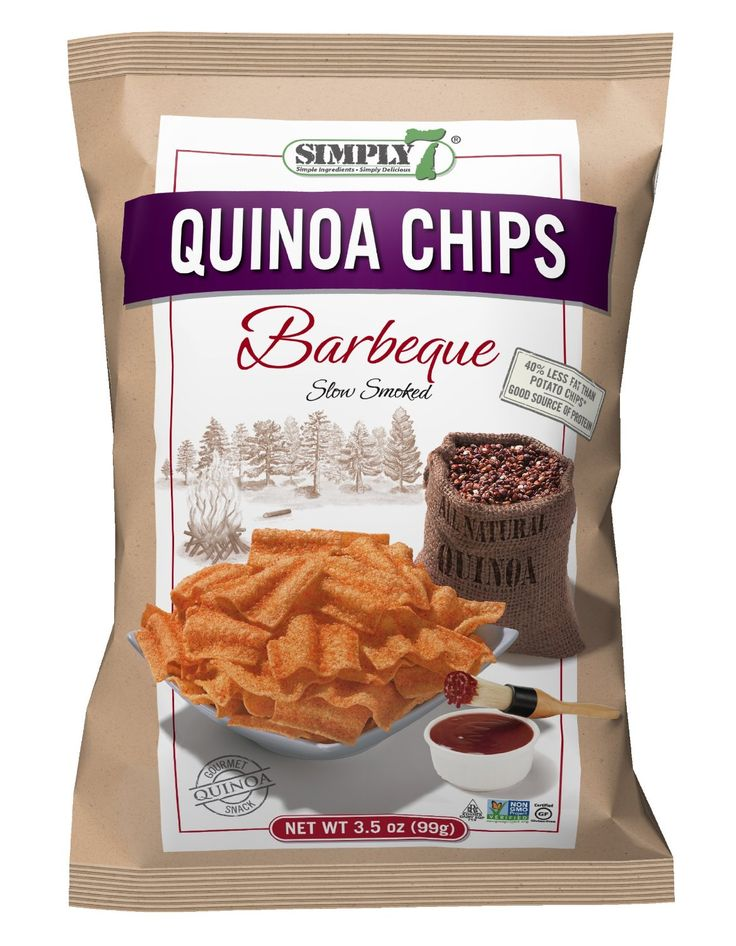 Learn more about Simply 7 Quinoa Chips at LaaLoosh.com! Crisp, airy and offered in 4 amazing flavors, these crunchy snacks are a must try at just 3-4 Points Plus per serving.