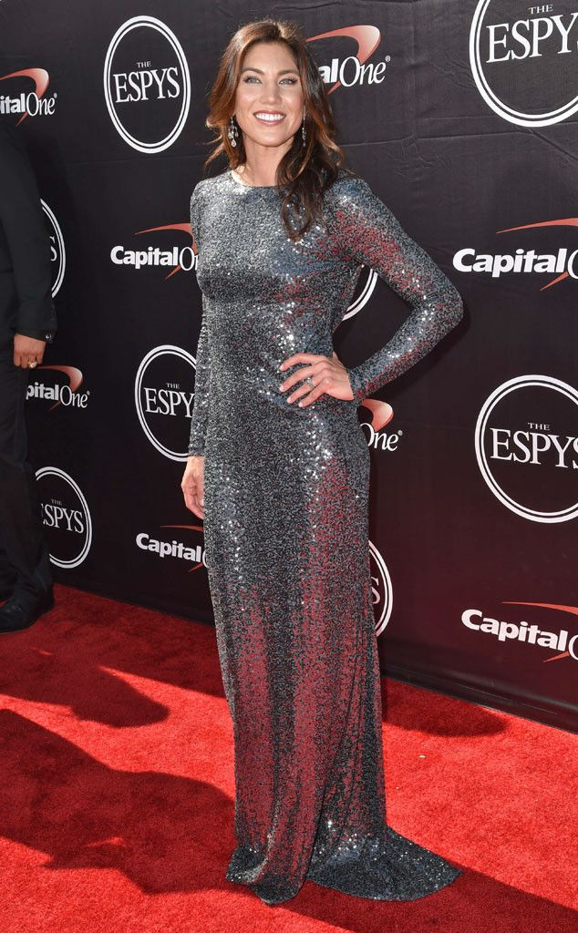 Hope Solo from 2015 ESPY Awards Red Carpet Arrivals She's enchanting in a sparkling silver gown.
