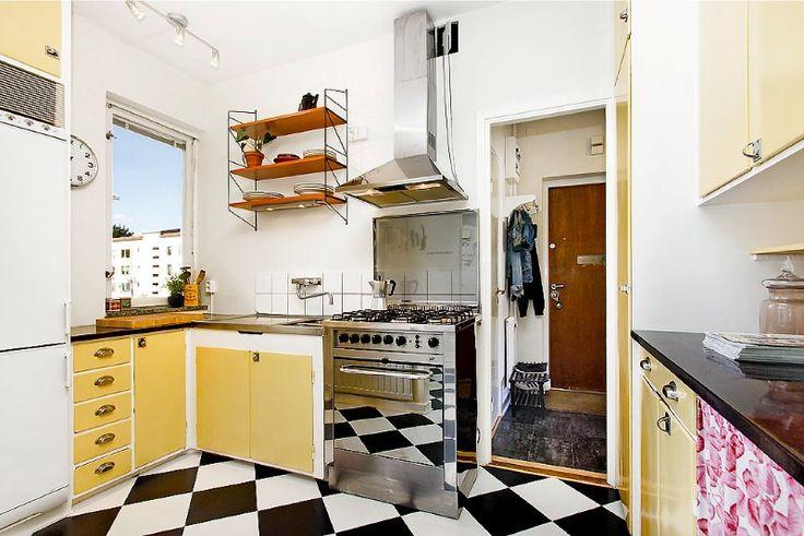 50s kitchen and floor