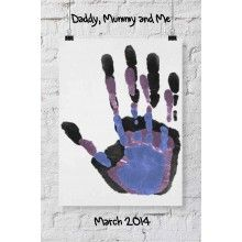 Acrylic Daddy Mummy and Me with Message