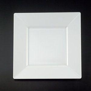 10 34 white plastic square plastic dinner plates 20ct by emi yoshi