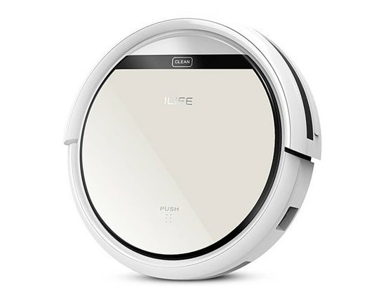 Image of ILIFE V5 Intelligent Robotic Vacuum Cleaner Self-charging Touch Screen HEPA Filter Sensor Remote Controllor 2600mAh Battery (Silver)