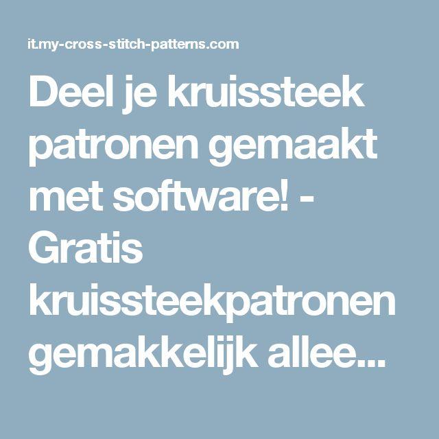 Deel je kruissteek patronen gemaakt met software!  - Gratis kruissteekpatronen gemakkelijk alleen kinderen alfabetten