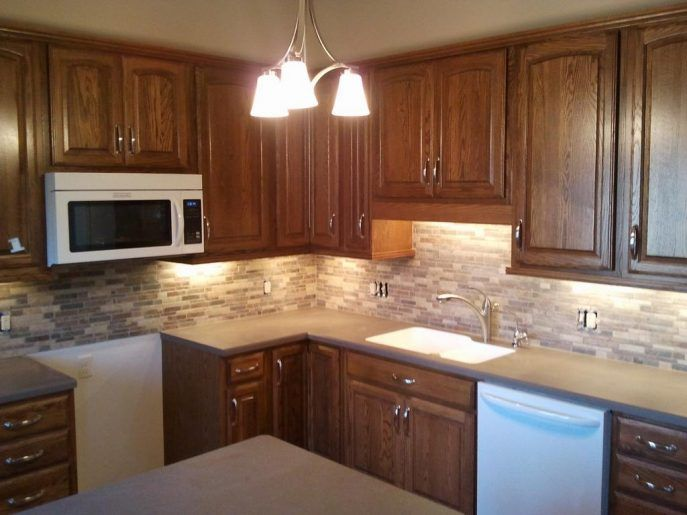 Kitchen Backsplash For Light Cabinets best 25+ menards kitchen cabinets ideas on pinterest