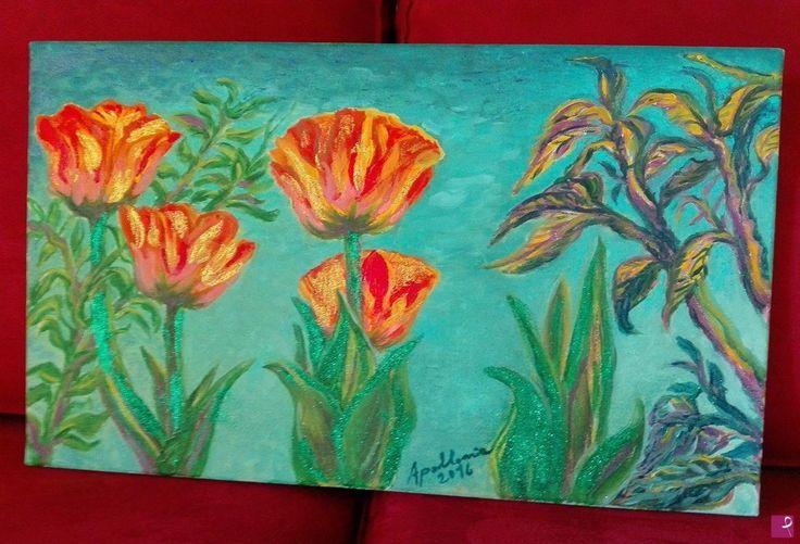 Tulipani rossi e gialli di Apollonia Grammatico