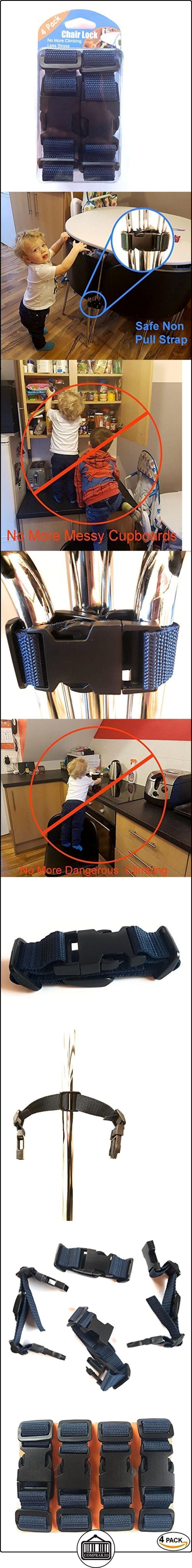 Kiddi prueba silla Lock Correas Anti Climb bebé seguridad no tirar con hebilla de liberación rápida (4unidades)  ✿ Seguridad para tu bebé - (Protege a tus hijos) ✿ ▬► Ver oferta: http://comprar.io/goto/B01N4OHZ68