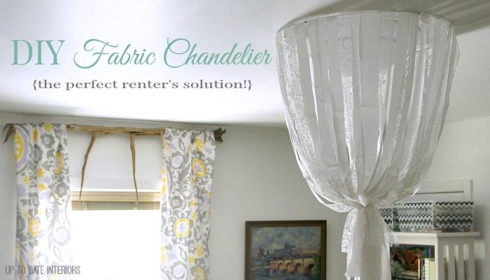 Fabric Chandelier {DIY of course!} - Up to Date Interiors