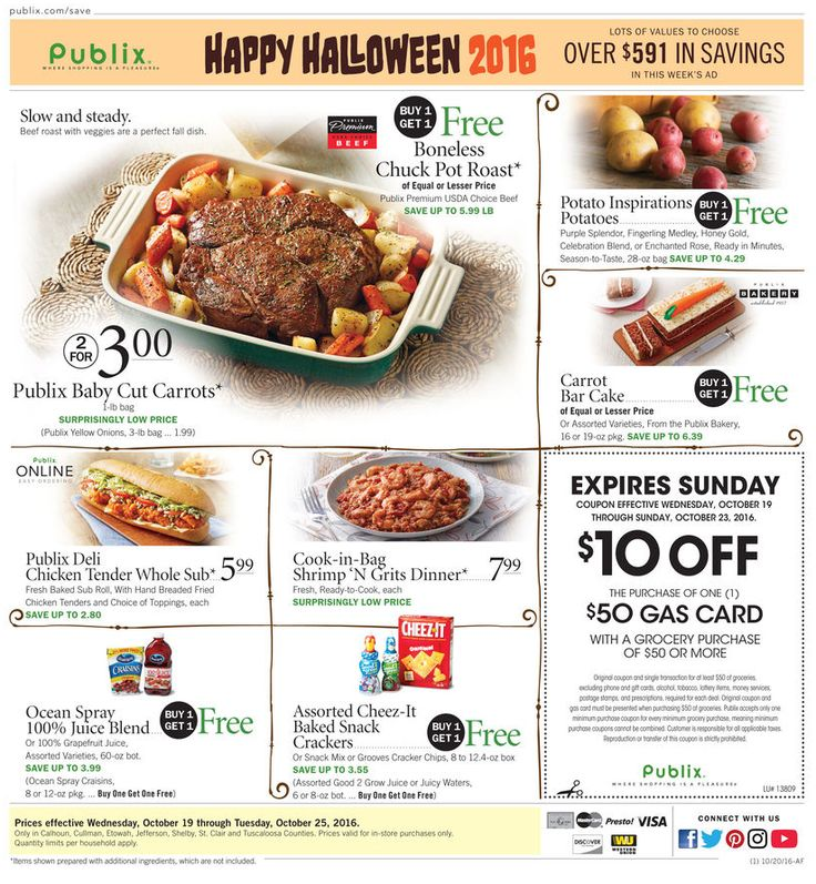 Publix Weekly Ad October 26 - November 1, 2016 - http://www.olcatalog.com/grocery/publix-weekly-ad.html