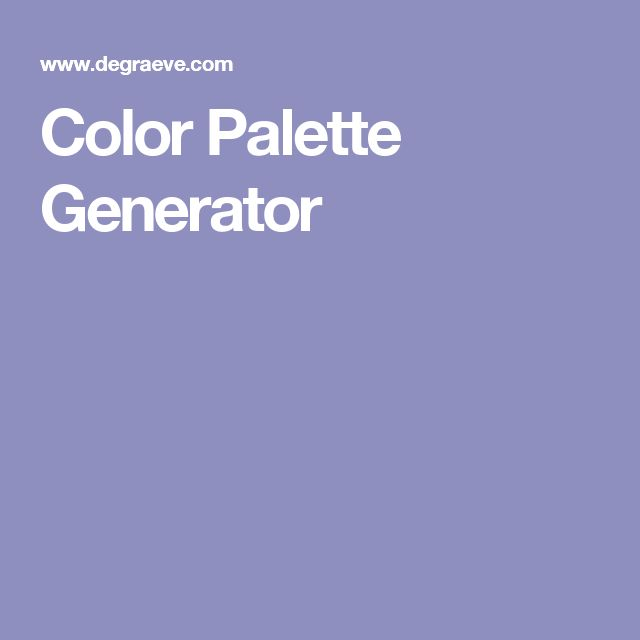 Color Palette Generator