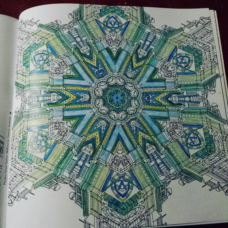 Adult Coloring Books Trippy Pencil Cities