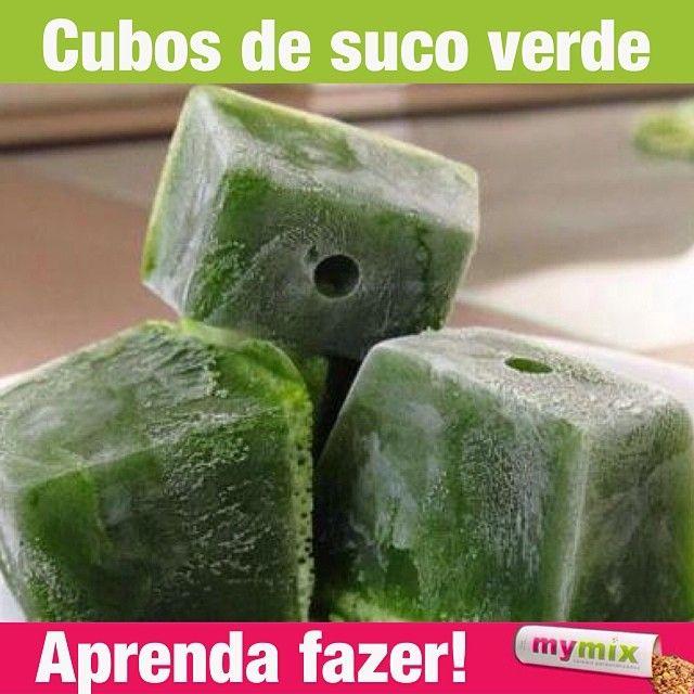 Cubs de suco verde
