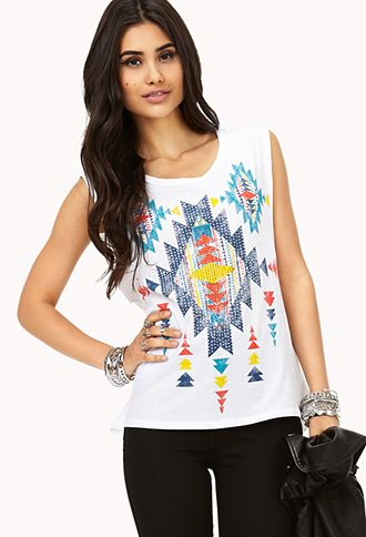 Dazzling Southwestern Muscle Tee | FOREVER21 - 2040495321
