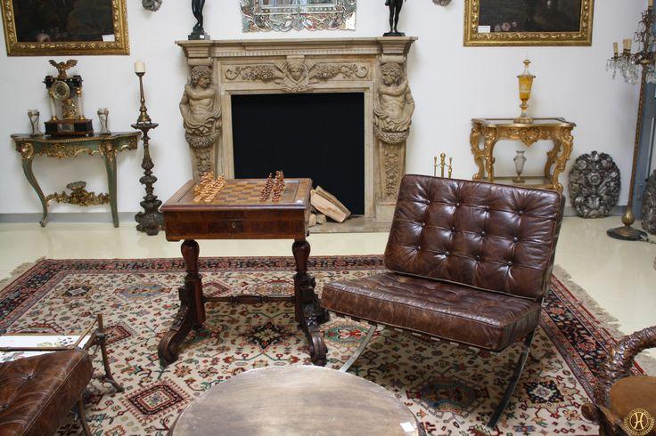 Schachtisch Historismus - Antik Möbel Hesz