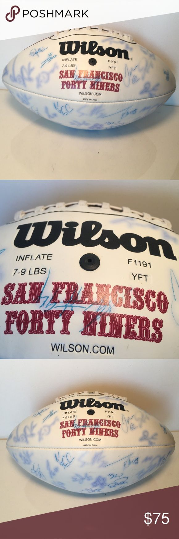 2003 SF 49ers Autographed Wilson NFL Football 2003 San Francisco 49ers Autographed Wilson *OFFICIAL* NFL Football. Wilson Other