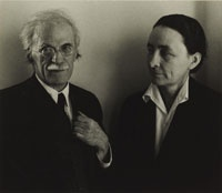 Alfred Stieglitz and Georgia O'Keeffe / by Ansel Adams / c. 1939 / gelatin silver print Man and wife