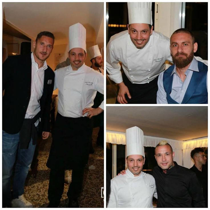 #Totti #DeRossi #Nainggolan #ChefSinisgalli #BoscoloHotels