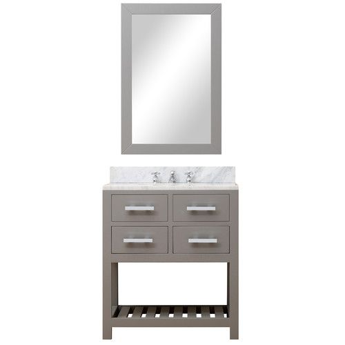"Found it at AllModern - Creighton 30"" Single Sink Bathroom Vanity Set with Mirror"