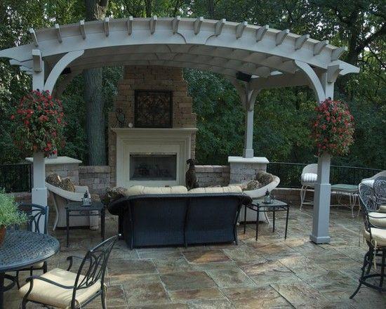 Terrific Pergola Roof Covering Designs: Traditional Patio Custom Pergola  Covers The Space Custom Outdoor Kitchen