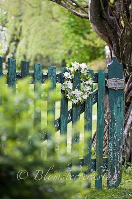 Blomsterverkstad: Vackra grindar!