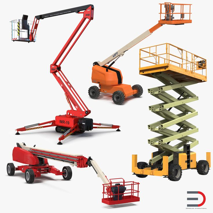 3D Telescopic Boom Lifts Collection model